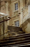 Stairs in Croatia. Stairs and buildings in Croatia royalty free stock images