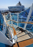 Stairs on cruise ship Stock Image