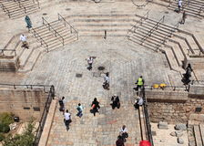 Stairs of Damascus Gate from Ramparts Stock Photo