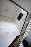 Stairs and decorated walls with plaster at main room in Russborough Stately House, Ireland. Stairs and decorated walls at main room inside Russborough Stately stock image
