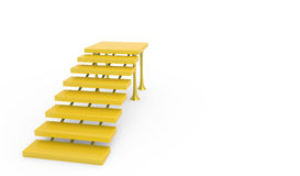 Stairs. Decoration for home, white background Royalty Free Stock Image
