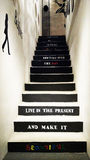 Stairs with decoration wording Royalty Free Stock Photography