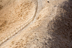Stairs in the desert to Masada Royalty Free Stock Image