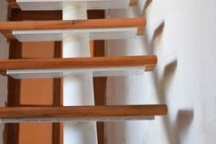 Stairs. Design solution stairs inside the house Royalty Free Stock Photography