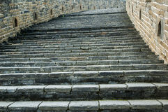 Stairs details of Great Wall Royalty Free Stock Images