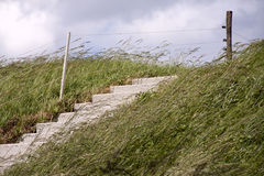 Stairs on a Dike Royalty Free Stock Images