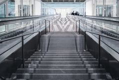 Stairs down in the hall Royalty Free Stock Images