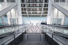 Stairs down in the hall Royalty Free Stock Image
