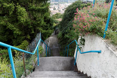 Stairs down. Stairs in le Teil, France Royalty Free Stock Photo