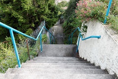 Stairs down. Stairs in le Teil, France Royalty Free Stock Image