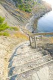 Stairs down to the beach Royalty Free Stock Photos