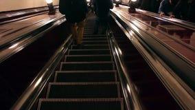 Stairs down underground stock video