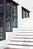 Stairs downtown in the old part of the harbor town Royalty Free Stock Photo