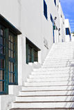 Stairs downtown in the old part of the harbor town Stock Photography