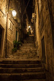 Stairs in dubrovnik, croatia Royalty Free Stock Photos
