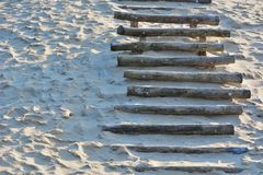 Stairs on a dune Stock Images