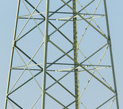 Stairs in an electricity pylon Royalty Free Stock Photo