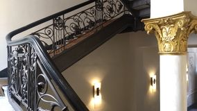 Stairs. Elegant stairs with ornate style stock photos