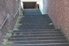 Stairs. An empty and cold dirty street staircase Royalty Free Stock Images