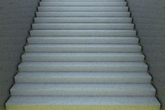 Stairs, entire view, 3d rendering Royalty Free Stock Photography