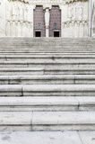 Stairs entrance to a church Royalty Free Stock Photo