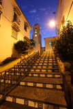 Stairs in Estepona at night. Spain Stock Image