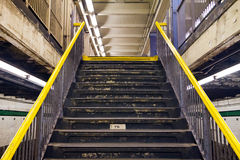 Stairs Exiting Subway Station Stock Images
