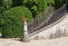 Stairs exterior. Outdoor stairs of an old mansion - side view Stock Images