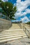 Stairs in Fairmount Park, Philadelphia, Pennsylvania. Royalty Free Stock Image
