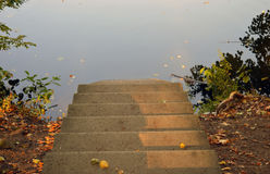 Stairs in the fall Stock Images