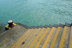 Stairs at ferry dock Royalty Free Stock Images