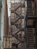 Stairs for fire escape at back street in New York City. Stairs for fire escape at back street in New York Royalty Free Stock Photo