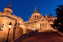 Stairs of Fisherman's Bastion in Budapest Stock Photography