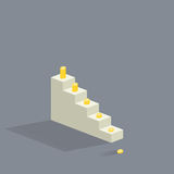 Stairs. In flat style. Vector illustration Royalty Free Stock Photo
