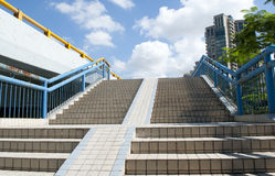 Stairs of footbridge Royalty Free Stock Photography