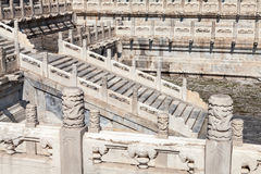 Stairs at the forbidden city of Beijing Royalty Free Stock Photos