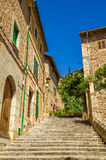 Stairs on Fornalutx. Stairs on the street in Fornalutx village on Majorca island Stock Images