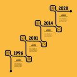 Stairs with four options, upward steps template. Business presen. Tation, timeline or Infographics Stock Photography