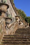 Stairs in Frascati (Rome, Italy) Royalty Free Stock Photography