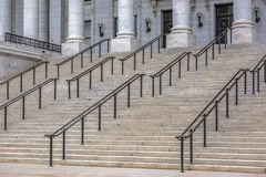 Stairs in front of Utah State Capitol Building stock photos
