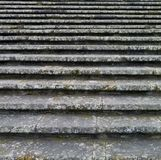 Stairs. Full frame abstract background showing some old lichen-overgrown stairs royalty free stock photos