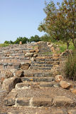 Stairs at Gamla. Stairs at the Gamla Nature Reserve, Israel royalty free stock photos
