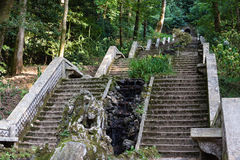 Stairs in garden of Serra do Bussaco, Portugal. Stock Photo