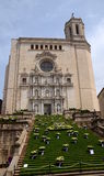 The stairs of Girona cathedral during annual Flower Festival & x28;Te Stock Photo