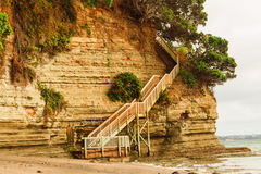 Stairs giving access to one of the beaches Royalty Free Stock Image