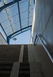 Stairs and Glass Roof. Fragment of a glass roof and stairs Royalty Free Stock Photos