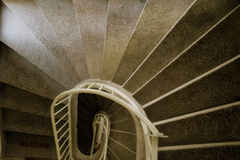 Stairs. Going down in a spiral formation Stock Images