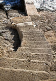 Stairs Going Down To Water Royalty Free Stock Photos
