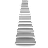 Stairs going up. On white background, rise and way to growth or spiritual elevation concept royalty free illustration