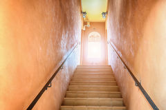 Stairs going up to the light Stock Photography